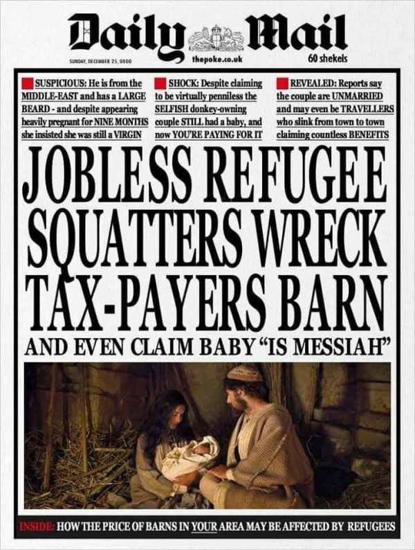 Hmmm… How the Daily Mail sees the Nativity story..