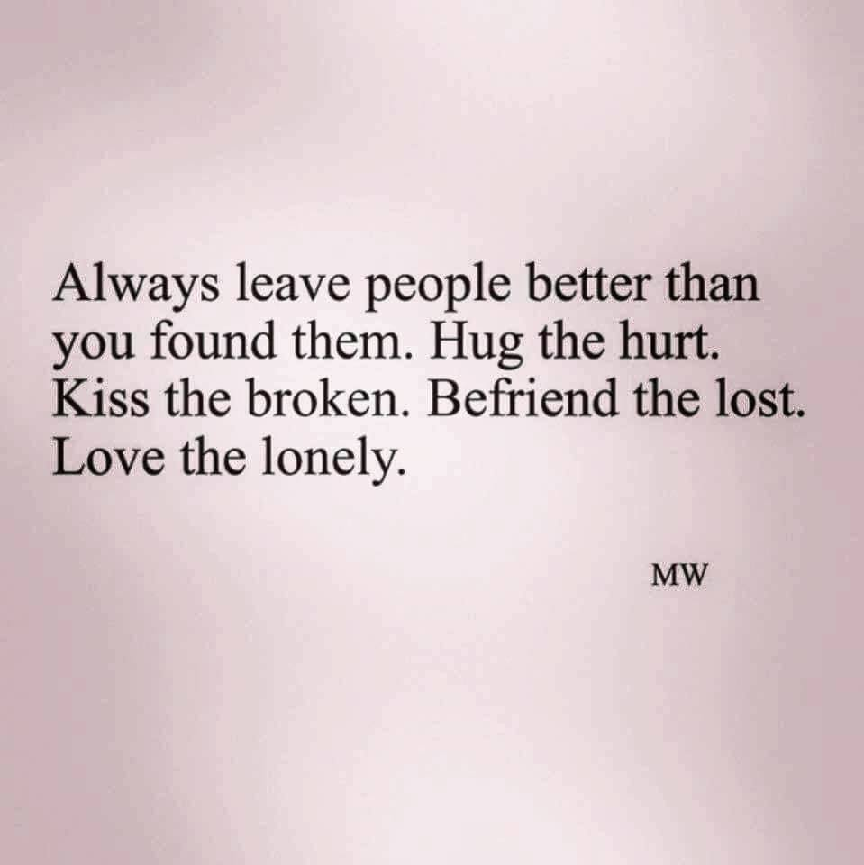 Always leave