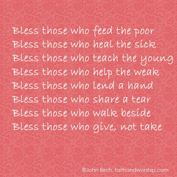Bless those…
