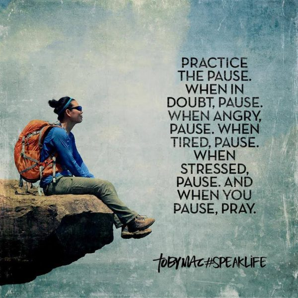 Practice the pause…